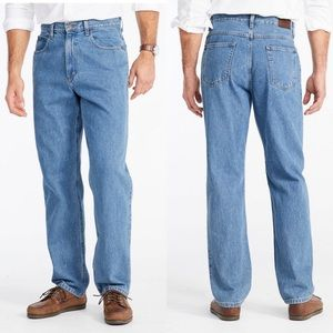 LLBean Double L Relaxed jeans, dark wash, 35x30